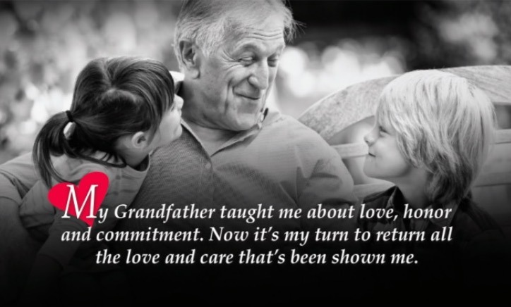 My Grandfather deserves love and care